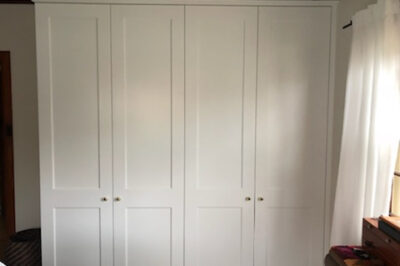 Hinged Shaker (2 Panel) Polyurethane doors with Unit Top & Capping Mould - 4 doors combination