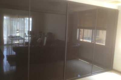 Black Glass with Black Frame - 4 door combination