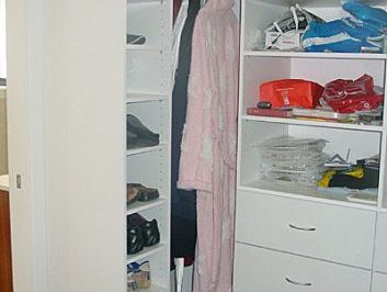 We can find a solution for a tricky corner in your walk in wardrobe