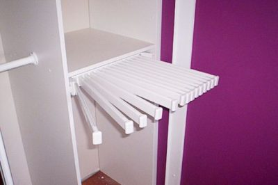 Add a trouser rack to your wardrobe design