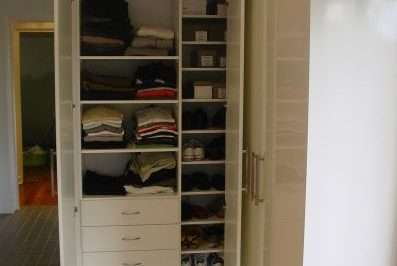 If there is additional height in your space, you can include an additional top shelf