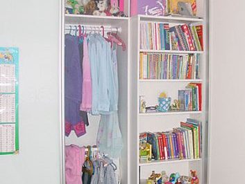 Utilise those tricky spaces with shallow shelves