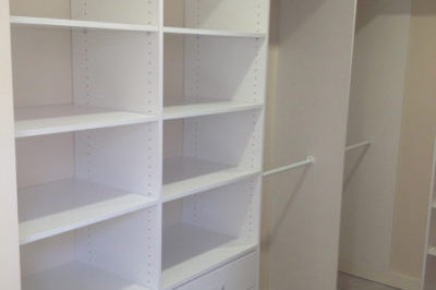 Walk in wardrobes allow more flexibility for the layout.