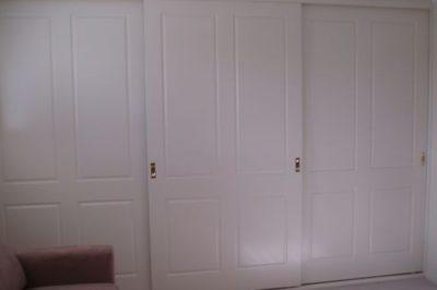 Sliding Federation (4 panel) Polyurethane Doors - 3 x wide doors
