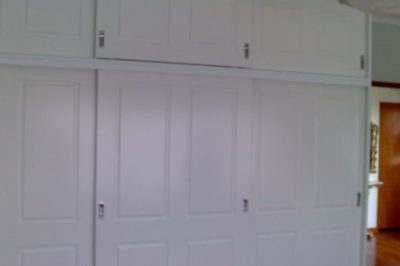 Sliding Federation (4 panel) Polyurethane Doors - 3 x wide doors on doors