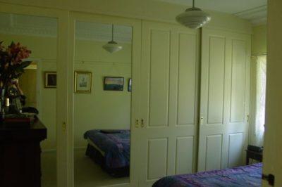 Sliding Federation (4 panel) and Decor Mirror Polyurethane Doors - 4 door combination