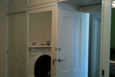 Sliding Federation (4 panel) and Decor Mirror Polyurethane Doors - doors on doors