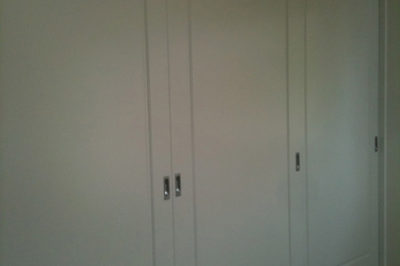 Sliding One Panel Polyurethane Doors with unit top - 3 doors