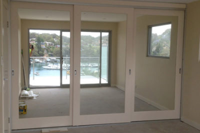 Sliding Custom Mirror Decor Polyurethane Doors - 3 door combination